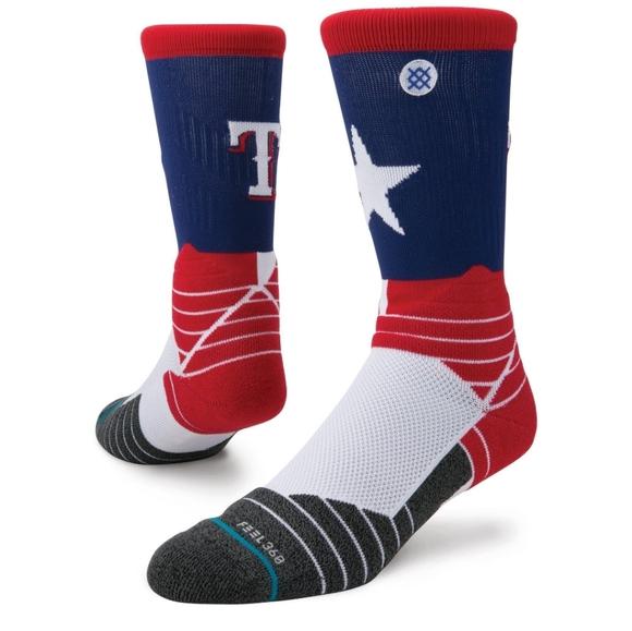 NWT Men's Texas Rangers Stance Socks